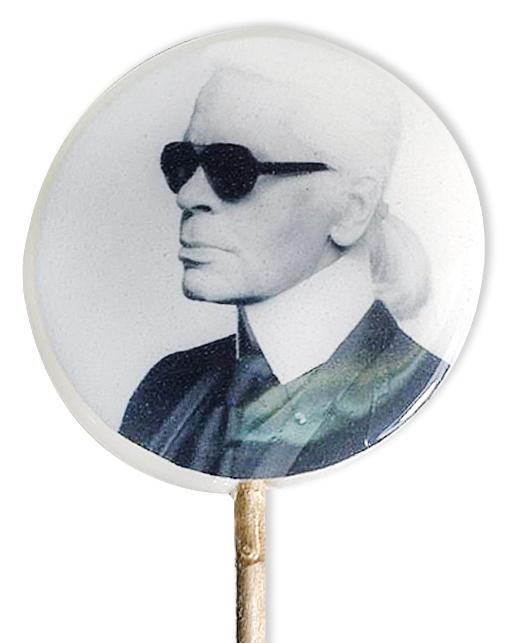 Леденцы с портретом Карла Лагерфельда